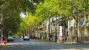 PARIJS - FRANKRIJK, AUGUSTUS 2015: mening van straten in de zomer stock video