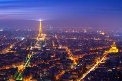 Parijs (Frankrijk) in de mist Stock Afbeelding