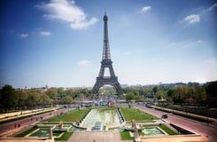 Parijs (Frankrijk) - de Toren van Eiffel Stock Afbeelding