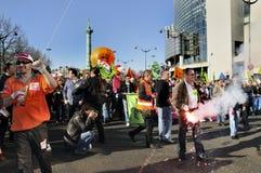 Parijs, Frankrijk, Demonstratie van Franse Vakbond Stock Afbeelding