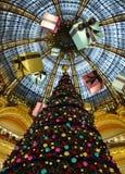 Parijs - Frankrijk Galeries Lafayette Stock Afbeeldingen