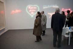 Parijs, Frankrijk, het Eigentijdse Tentoongestelde voorwerp van de Kunst, FIAC, Royalty-vrije Stock Foto