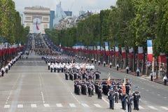 Parijs, Frankrijk - Juli 14, 2012 Militairen van het Franse Buitenlandse Legioen maart tijdens de jaarlijkse militaire parade Royalty-vrije Stock Afbeelding