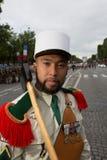 parijs frankrijk 14 juli, 2012 Pioniers vóór de parade op Champs Elysees in Parijs Royalty-vrije Stock Foto