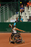 PARIJS, FRANKRIJK - JUNI 10, 2017: Roland Garros-het wiel van vrouwendubbelen Stock Foto