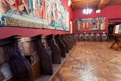Binnenland van Cluny museum, Parijs stock fotografie