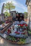 PARIJS, FRANKRIJK - MEI 2, 2016: Bernard Vetchac Aka Tignus van Charlie Hebdo-graf in pere-Lachaise begraafplaats homeopaty stich Royalty-vrije Stock Foto