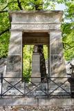 PARIJS, FRANKRIJK - MEI 2, 2016: Het graf van Gasbardmonge in pere-Lachaise begraafplaats homeopaty stichter Royalty-vrije Stock Fotografie