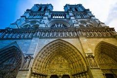 Parijs, Frankrijk. notre dame Royalty-vrije Stock Foto's
