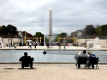 Parijs Frankrijk Place DE La Concorde Stock Foto's
