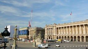19 11 2014, Parijs, Frankrijk: Twee die schoten van Plaats Concorde in Parijs Frankrijk vestigen stock videobeelden