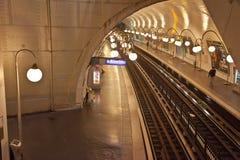 parijs Haal metro post aan Stock Foto's