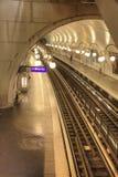 parijs Haal metro post aan Royalty-vrije Stock Foto