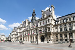 Parijs: Hotel DE Ville Stock Afbeeldingen
