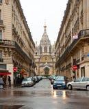 10 Parijs-JANUARI: Voorgevel van Alexander Nevsky Cathedral op 10,2013 Januari in Parijs Stock Fotografie