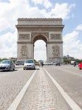 PARIJS - JULI 28: Boog DE triomphe op 28 Juli, 2013 op zijn plaats du Ca Royalty-vrije Stock Fotografie