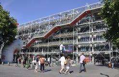 Parijs, 20 Juli: De Bouw van het Pompidoucentrum van Parijs in Frankrijk Stock Foto's