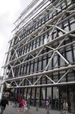 Parijs, 20 Juli: De Bouw van het Pompidoucentrum van Parijs in Frankrijk Royalty-vrije Stock Foto's