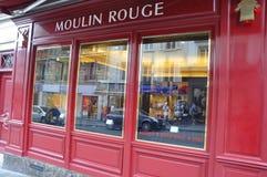 Parijs, 17 Juli: De Rouge van Magasinmoulin van Montmartre in Parijs Stock Afbeeldingen