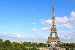 PARIJS, JULI 2017: Luchtmening van Parijs met de toren van Eiffel Stock Foto's