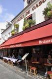 Parijs, 17 Juli: Terras van Montmartre in Parijs Royalty-vrije Stock Foto's