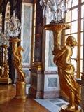 Beeldhouwwerken in Versailles. Goud van Parijs Royalty-vrije Stock Foto's
