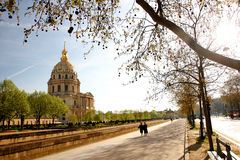 Parijs, Les Invalides, beroemd oriëntatiepunt royalty-vrije stock foto