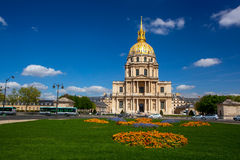 Parijs, Les Invalides, beroemd oriëntatiepunt in Frankrijk Royalty-vrije Stock Foto's