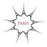 Parijs met de torens van Eiffel vector illustratie