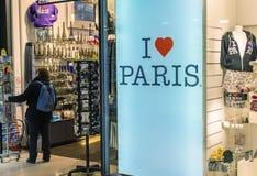PARIJS - NOVEMBER 21, 2012: Ik houd de straat van teken van Parijs Attra van Parijs Royalty-vrije Stock Foto