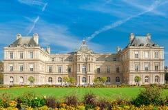 Parijs, Paleis in de Tuin van Luxemburg, Frankrijk Stock Afbeelding