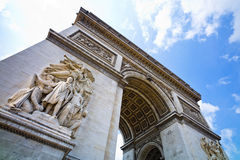 Parijs, Parijs, Frankrijk. boog van triomf royalty-vrije stock foto