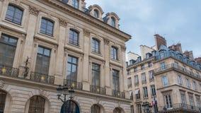Parijs, plaats Vendome stock afbeelding