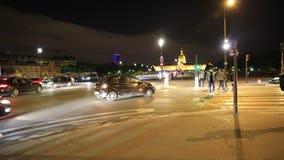 Parijs Pont Alexandre III stock videobeelden