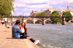 Parijs, quai DE Seine frankrijk 16 Juni 2019 royalty-vrije stock fotografie