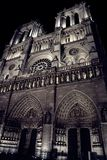 Parijs 's nachts, Notre-dame, november 2017 Stock Foto
