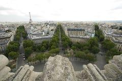 Parijs Triomphe stock afbeeldingen