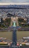 Parijs - Trocadero en Palais DE Chaillot royalty-vrije stock foto
