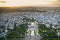 Parijs van Eiffel tower.trocadero Stock Foto's