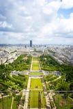 Parijs van hierboven. Stock Afbeeldingen