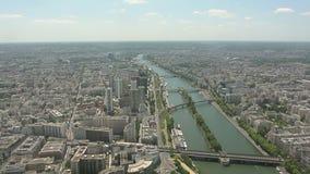 Parijs van hierboven stock video