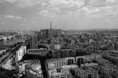 Parijs van hierboven in de Ballon Stock Afbeelding