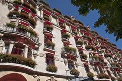 Parijse balkons stock afbeelding