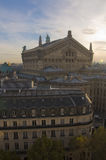Parijse Operahuis bij Zonsondergang Stock Afbeeldingen