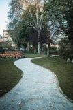 Parijse Parkweg royalty-vrije stock afbeeldingen