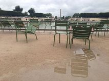 Parijse stoelen Royalty-vrije Stock Afbeeldingen