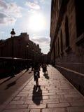 Parijse straat Stock Afbeeldingen