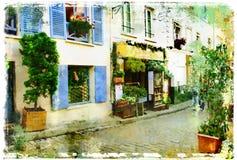 Parijse straten Stock Afbeeldingen