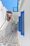Parikia de la isla Grecia de Paros Foto de archivo