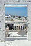 Городской пейзаж Parikia на острове Paros, Греции Стоковые Изображения RF